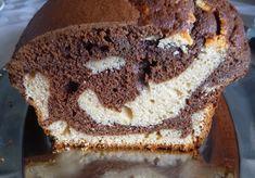 recette gâteau cake marbré chocolat cacahuète
