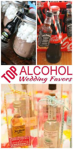 Wedding Favors! The best alcohol wedding favors! Send your guests home with gifts they will love! From goodie bags, classy, useful, inexpensive, DIY, creative, unique, elegant and tons more ideas. Amazing ideas that friends and family will want from any wedding theme that wants to use alcohol as a favor.