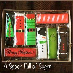 Cookies packaging christmas sugar ideas for 2019 Fancy Cookies, Iced Cookies, Cute Cookies, Cupcake Cookies, Cupcakes, Christmas Biscuits, Christmas Sugar Cookies, Holiday Cookies, Christmas Cookies Packaging