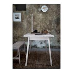 IKEA - NORRÅKER, Tafel, Duurzaam en slijtvast; voldoet aan de eisen voor gebruik in openbare ruimtes.Elke tafel is uniek, met een gevarieerde adering en natuurlijke kleurnuances; een onderdeel van de charme van hout.Door de afgeronde hoeken is het risico kleiner dat kinderen zich aan de tafel bezeren.