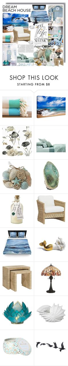 """dreambeachhouse"" by bellamonica ❤ liked on Polyvore featuring interior, interiors, interior design, home, home decor, interior decorating, Calvin Klein, Pier 1 Imports, Jayson Home and Bensimon"