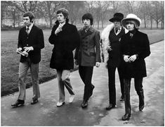 Charlie Watts, Mick Jagger, Bill Wyman, Keith Richards e Brian Jones in London – 1967. (Keystone-Getty Images)