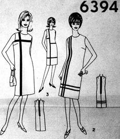 Yves Saint Laurent - Patron 'Simplicity' - Robe 'Mondrian' - 1966