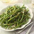 Stir and Serve Green Beans from Good Housekeeping ... worked really well for today's brunch ... simple and delicious.