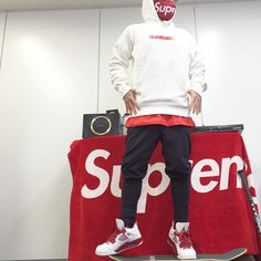 006 supreme moution logo top / #supreme pants / #adidas sneaker / #jordan4…
