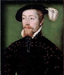 James I of Scotland - 1513-1542 -  His mother was Margaret Tudor, sister of Henry VIII.  He married Mary of Guise; they had a daughter who became Mary, Queen of Scots. James died young - he was only 30. But in that short time he fathered 3 legitimate & 9 illegitimate children (that he recognized)- Suffise to say, he packed in a lot in those short years!