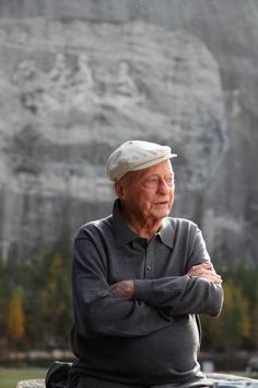 Stetson Kennedy, infiltrator and dismantler of the Ku Klux Klan, in front of Stone Mountain, the site where the Klan was reborn.