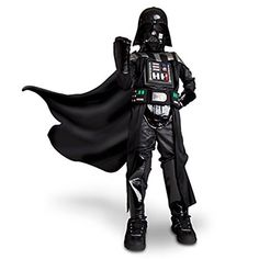This Disney Store Original Authentic Darth Vader costume will tempt your young Star Wars fan over to the dark side of the Force with a Darth Vader speaking feature and multi-textured trims. This cost...
