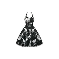 Lillian Black Dress ($65) ❤ liked on Polyvore featuring dresses, pin up dresses, black rockabilly dress, black pinup dress, black day dress and kohl dresses