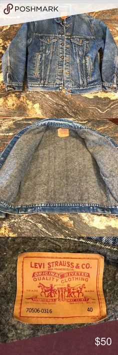 Vintage Levi's denim (trucker) jacket Got from another posher , sadly doesn't fit as I'd like. Great vintage condition ! Very warm Levi's Jackets & Coats Jean Jackets
