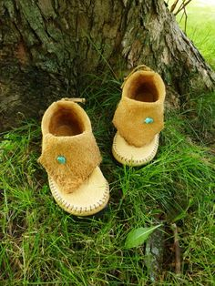 want a pair for every member of my family. Buffalo Hide Inca Moccasin w/ Vibram by TreadLightGear on Etsy, $250.00