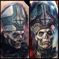 Priest of death Horror 3D Tattoo - http://tattootodesign.com/priest-of-death-horror-3d-tattoo/ | #Tattoo, #Tattooed, #Tattoos