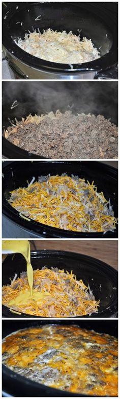 Crock Pot Breakfast Casserole ~ GuideKitchen