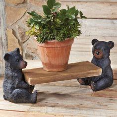 Black Bear Flower Bench