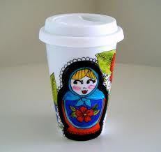 Fabulous takeaway coffee holder - yes please! #matroyshka #coffee