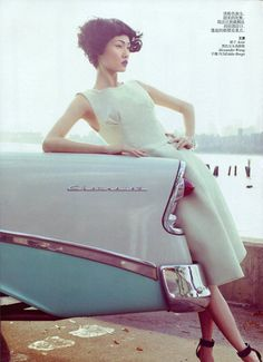 Vogue China Channels 50s Vintage for March 2012