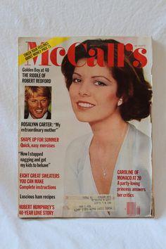 McCALL'S MAY 1977 MAGAZINE, Vintage magazine, Robert Redford, Caroline of Monaco, Rosalynn Carter, vintage paper ephemera, vintage lifestyle