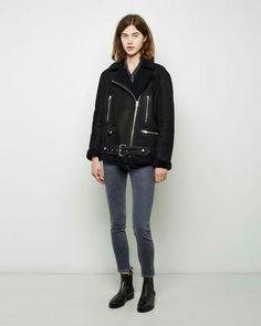 Acne Studios More shearling jacket.