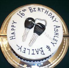 Car keys cake