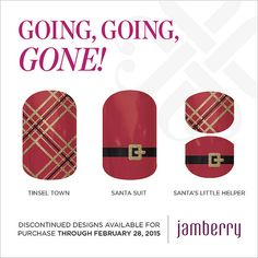 """Discontinued wraps available for purchase through February 28, 2015!! """"Tinsel Town"""" """"Santa Suit"""" & """"Santa's Little Helper"""""""
