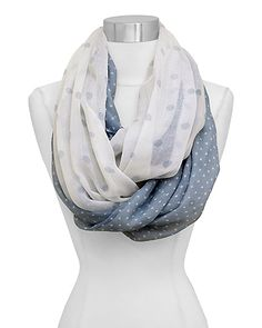 Polka Dot Infinity Scarf in Blue. No Pattern just idea for polka dot scarf. Look Fashion, Fashion Outfits, Womens Fashion, Fashion Ideas, Cute Scarfs, Cozy Scarf, Fashion Jewelry Necklaces, Schneider, Passion For Fashion