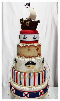 Boat cake | Pirate theme birthday cake