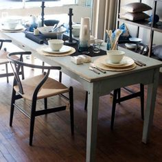 Inspirational images and photos of Dining Rooms : Remodelista #Anthropologie #PinToWin