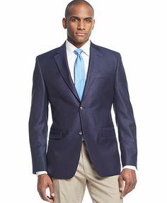 Donald J. Trump Solid Silk-Blend Sport Coat