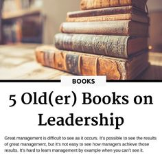 Some books get old and obsolete. Some other books get older and make you wiser. We put together a collection of older books on leadership and management. The oldest is more than 50 years old. Up to you to decide what is the wisdom to keep from a long gone era. --- Read the full article at the link in BIO  #booksbooksbooks #bookshelf #leadership #passion  #havefun #worklifebalance #staymotivated #timemanagement #selfimprovement  #boutiquehotel #management #thebusylifestyle #hotelreview…