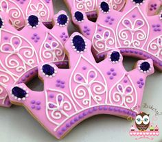 Tiara cookies, princess cookies