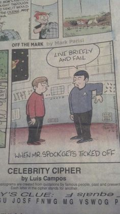 When Spock gets ticked off
