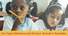 No New Admissions in Class I: The Sorry State of 534 Karnataka Schools