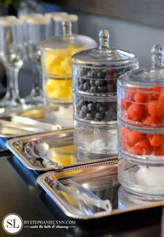 Gorgeous Mimosa Bar, great ideas and free printables