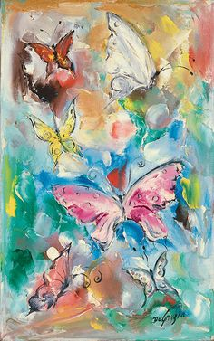 "More than fifty of his most popular paintings will be celebrated in the new exhibit ""DeGrazia's Greatest Hits"". Please join us for our opening reception on August 1st from 5-7 pm. ""Butterflies"", oil on canvas, 1950. #NationalHistoricDistrict #DeGrazia #Artist #Ettore #Ted #GalleryInTheSun #ArtGallery #Gallery #Adobe #Architecture #Tucson #Arizona #AZ #Catalinas #Desert #Popular #Oil #Painting #Exhibition #teddegrazia #galleryinthesun #degrazia"