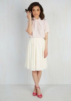 Lavia Fashion Garment Company Tulle of the Trade Skirt in Cream