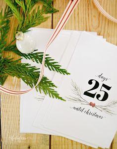 Free Printable Christmas Countdown MyFabulessLife.com