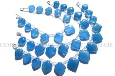 Apple Smooth beads in Blue Chalcedony Shape Quality AA 12.50 #bluechalcedony #bluechalcedonybeads #bluechalcedonybead #bluechalcedonyapple #applebeads #beadswholesaler #semipreciousstone #gemstonebeads #gemrare #beadwork #beadstore #bead