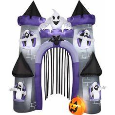 9 airblown haunted castle archway halloween decoration online 8997 87795 x 32283 x 10748