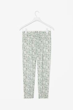COS Tapered print trousers