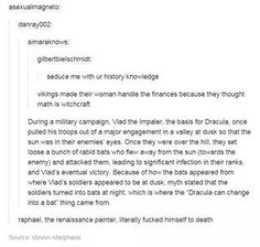 History, as told by tumblr.