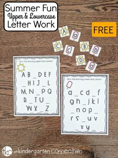 free summer alphabet printables for pre k and kindergarten