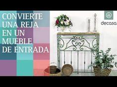 Convierte una reja en un mueble de entrada (Programa completo) | Con material de derribo - YouTube