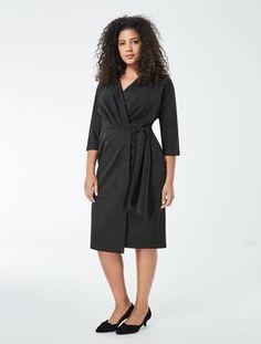 e0b675a3e1 Draped jersey dress Marina Rinaldi, Curvy Fashion, Plus Size Dresses, Wrap  Dress,