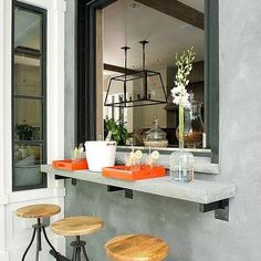 Patio Pass Through Window, Transitional, Kitchen