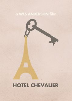 Hotel Chevalier | Wes Anderson Minimal Movie Posters by Justin Mezzel    I REALLY need to see this!