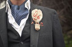 So cute! Hot Air Ballon boutonniere (Tasteful Tatters) - Oz Wedding Inspiration by Dana Grant Photography - via greenweddingshoes