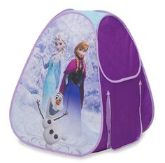What little girl wouldn't be thrilled with her own Frozen tent?  Just imagine the hours of play ahead -- and some cute photos too.