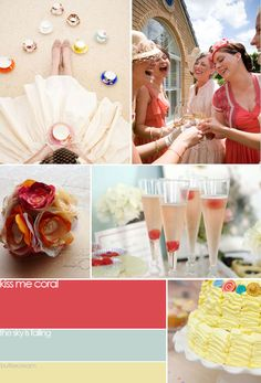 sparkles of coral in your wedding day