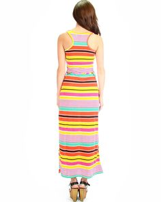 fdf7bfaf9a549 ORANGECOMBO ALONG THOSE LINES STRIPED RACERBACK PLUS SIZE MAXI DRESS