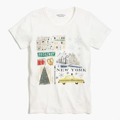 Crew Factory for the New York winter T-shirt for Women. Find the best selection of Women Clothing available in-stores and online. New York T Shirt, New York Christmas, Xmas, Winter T Shirts, New York Winter, Discount Mens Clothing, Cool Graphic Tees, J Crew Style, Kids Outfits